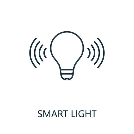 Smart Light outline icon. Thin line style from smart home icons collection. Pixel perfect simple element smart light icon for web design, apps, software, print usage 矢量图像