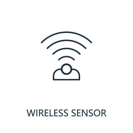 Wireless Sensor outline icon. Thin line style from smart home icons collection. Pixel perfect simple element wireless sensor icon for web design, apps, software, print usage 矢量图像