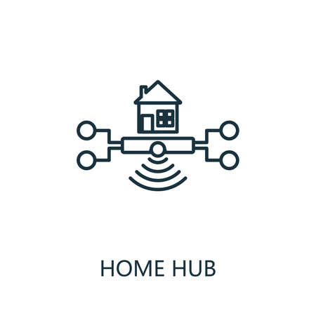 Home Hub outline icon. Thin line style from smart home icons collection. Pixel perfect simple element home hub icon for web design, apps, software, print usage