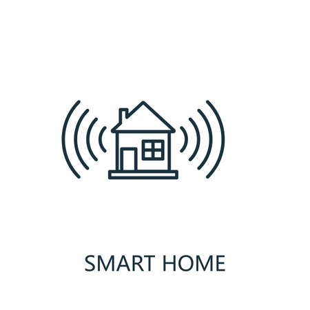 Smart Home outline icon. Thin line style from smart home icons collection. Pixel perfect simple element smart home icon for web design, apps, software, print usage 矢量图像