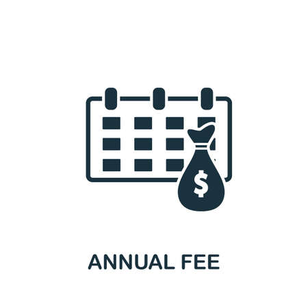 Annual Fee icon. Simple creative element. Filled monochrome Annual Fee icon for templates, infographics and banners