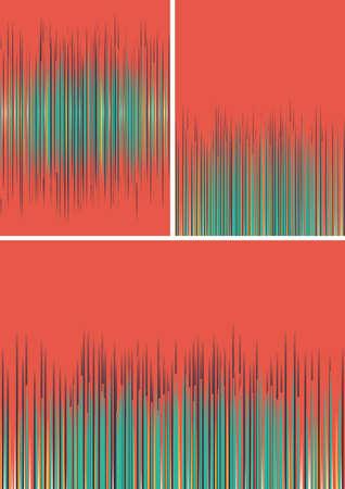 espejismo: Conjunto de fondos de rayas de colores abstractos. Fondo colorido, colores mezclados eps 10 de fondo, mezcla de colores de fondo vector