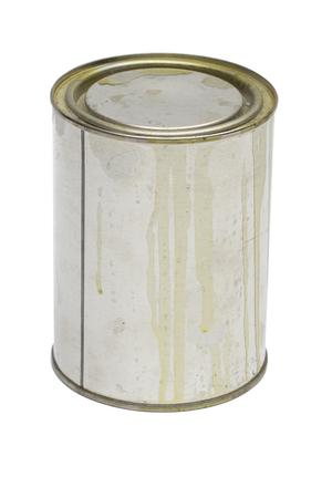 paintbucket: tin on the white background Stock Photo