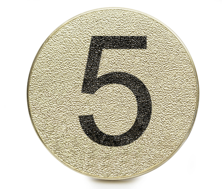 number on the white background photo