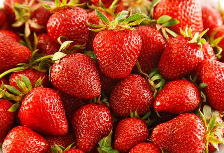 juicy strawberries close up shot