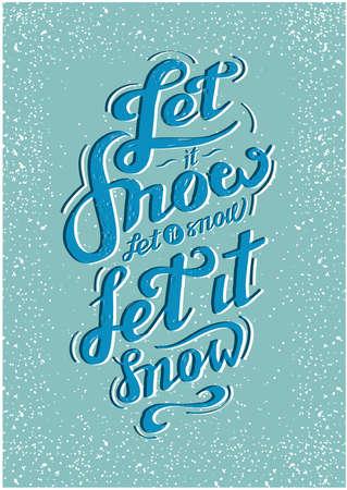 let: let it snow postcard inscription