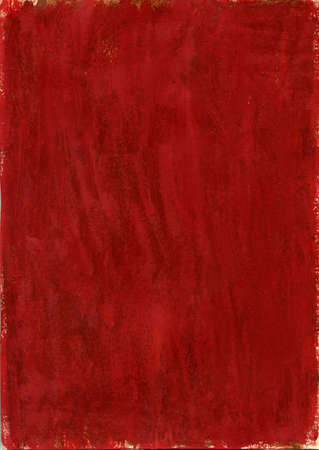 Red handmade canvas texture painted with gouache on a piece of paper covered with paraffin Stock Photo