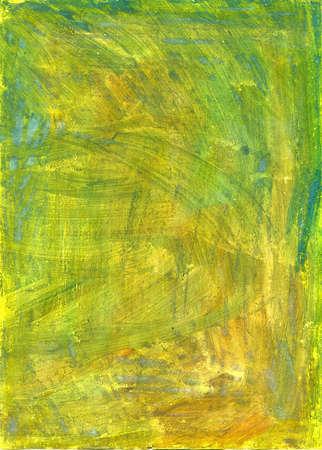 Mano verde e giallo con texture dipinte gouache