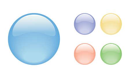 Set di bolle di colori diversi, illustrazione vettoriale Vettoriali