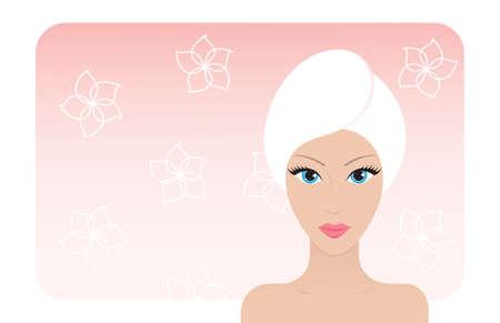 Sch�ne Frau, nachdem sie ein Bad. Vector illustration. Illustration
