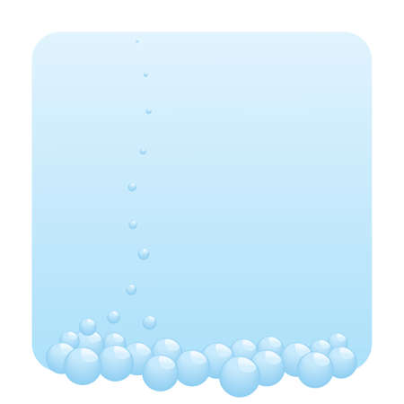 Background with bubbles going up. Vector illustration. Stock Vector - 5220374
