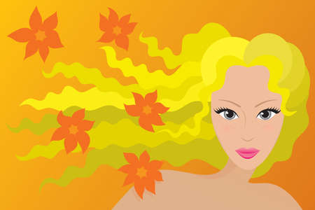 the appearance: Spring type of female appearance. Vector illustration.