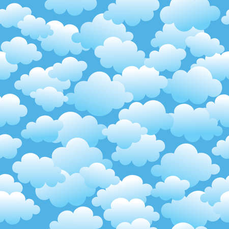 Vector seamless pattern with a lot of clouds.