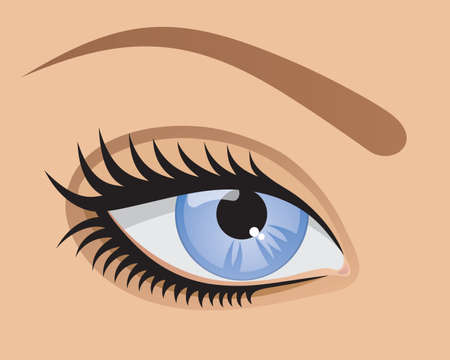 blue eye. Stock Vector - 7530232