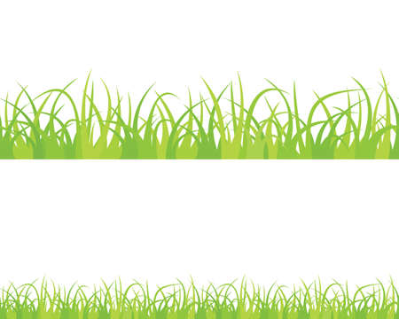 Seamless isolated green grass. Stock Vector - 17682434