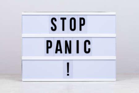 Stay home, stop COVID-19, stop Coronavirus, stop panic