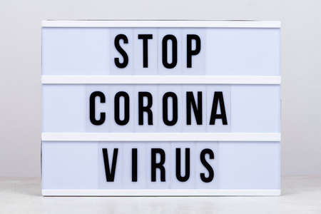 Stay home, stay safe, stop Covid-19, stop Coronavirus