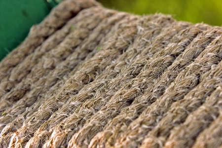 impregnated: Fibre vecchia corda impregnate di acqua di mare e scolorita