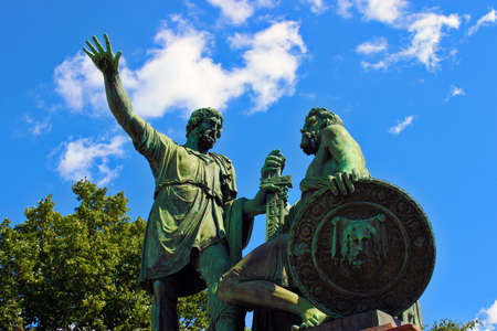 minin: Monument to Minin and Pozharsky. One of the main attractions of Moscow and Kremlin