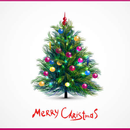 decorated christmas tree: Vector illustration of decorated Christmas tree. Vector illustration Illustration