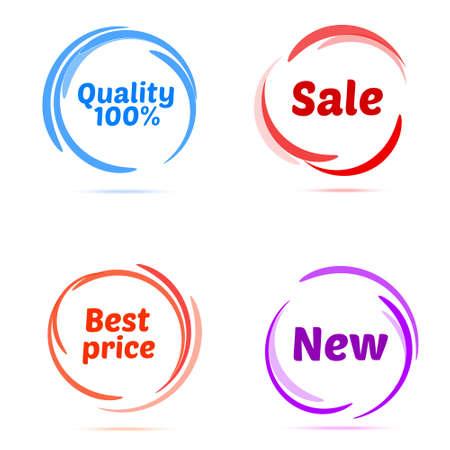 Set van zakelijke badges en stickers. vector illustrator Stock Illustratie