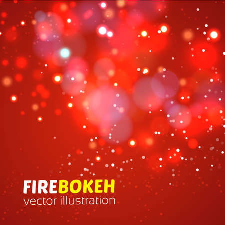 abstract fire: Abstract fire bokeh. Vector background. Vector illustration