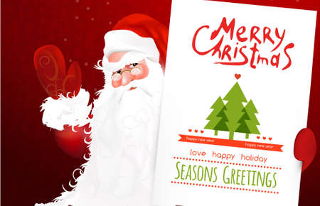 letter from santa: Christmas letter to Santa with christmas hat and gift