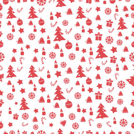 christmas backgrounds: Merry Christmas and Happy New Year. Seamless patterns. Vector illustration. Xmas