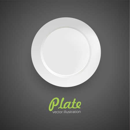 dinner plate: Empty dinner plate. Vector