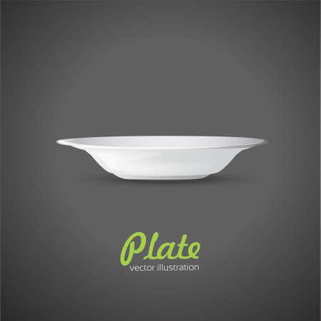 plate: Empty dinner plate. Vector