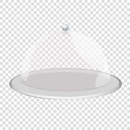 cloche: cloche restaurant close with object. Tray on a transparent background Illustration