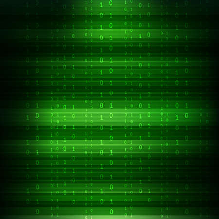 Abstract Technology Background. Binary Computer Code. Programming  Coding  Hacker concept. Vector Background Illustration.