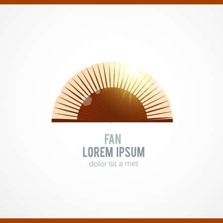 open fan: Folding fan. Vector illustration Illustration