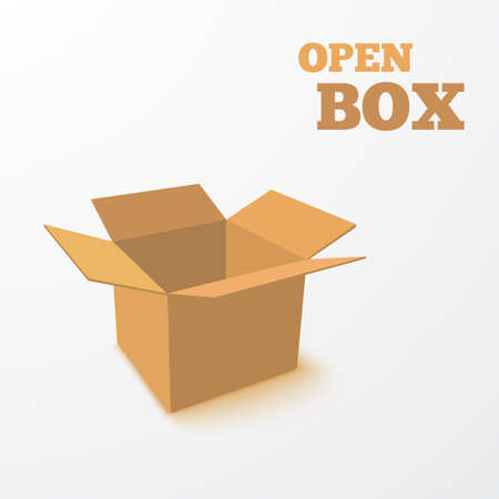 Open Box. Vector Illustration.