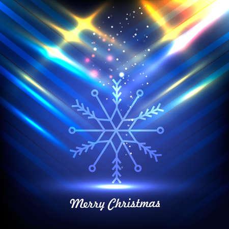 Snowflakes. Merry christmas. Vector illustration Illustration