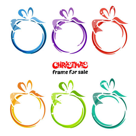 Set of Christmas sale balls with bows vector design on white background.Can be used for e-commerce, banner, shop, big sale, gift card, poster, advertising, postcard, Xmas sale, new year sale.