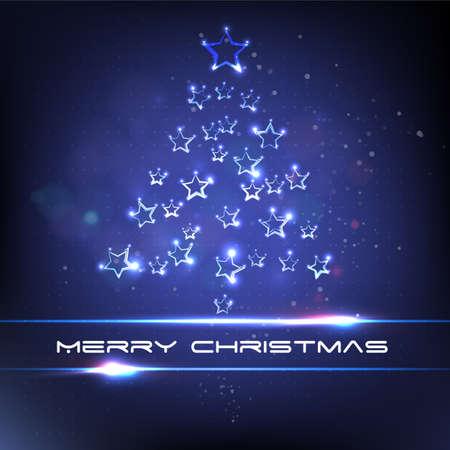 xmas star: Xmas tree star light. Merry christmas.