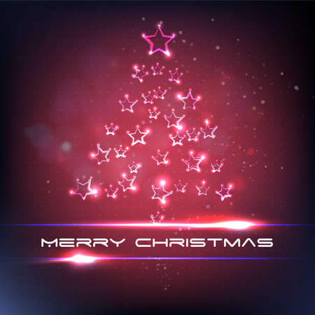 xmas star: Xmas tree star light. Merry christmas Illustration