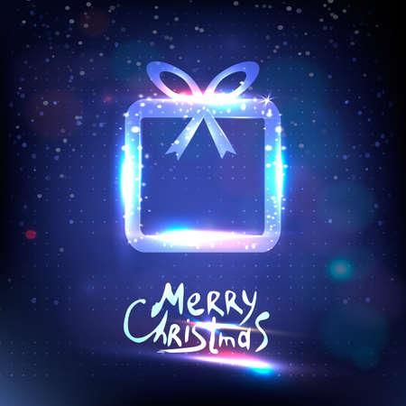 surprise box: Bokeh vector surprise gift box design template. Christmas light