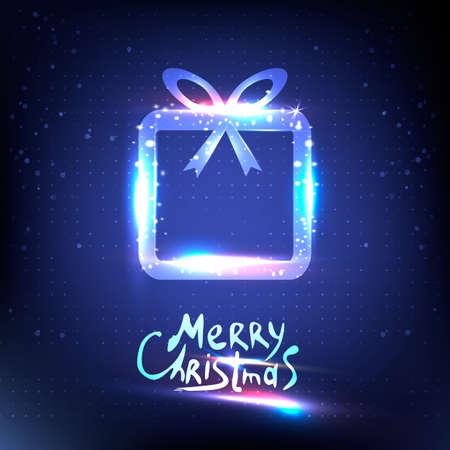 surprise box: Vector surprise gift box design template. Christmas light