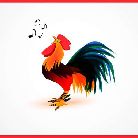 aves de corral: la ilustración vectorial martillo. Avicultura