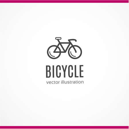 Bicycle icon on white