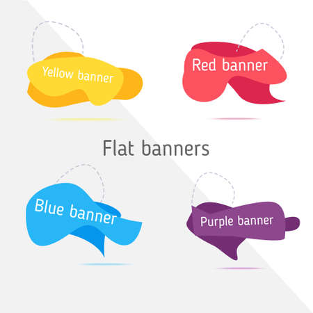 Set of modern abstract vector banners.
