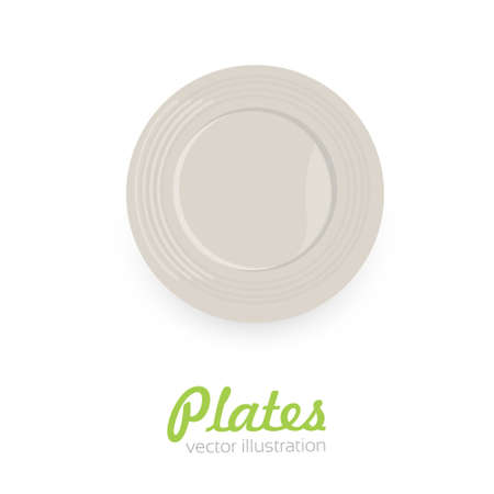 Empty plate isolated on white background.