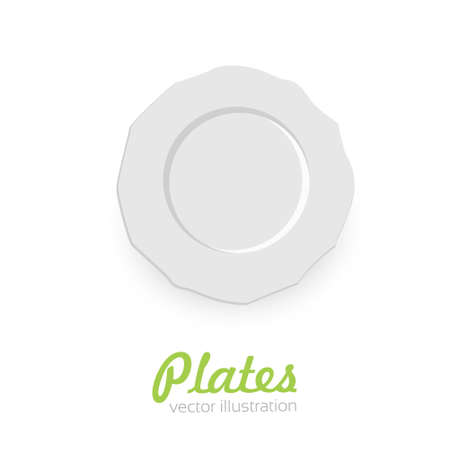 Empty plate isolated on white background. 向量圖像