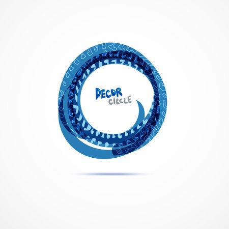 Decor circles. Vector illustration. Color set.