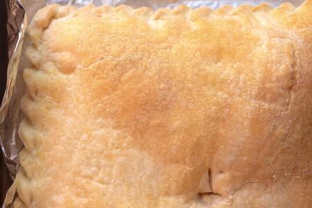 Closeup of pie crust Stock Photo