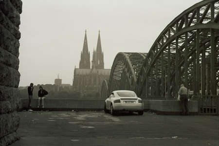 Morning in Cologne, Germany Stock Photo