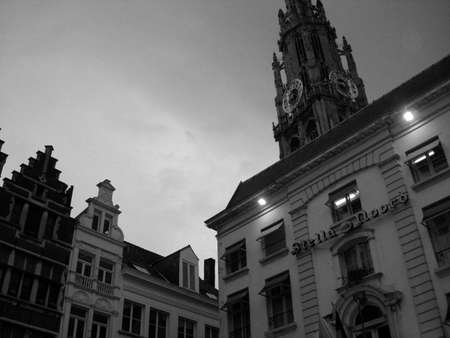 central square: Antwerp central square at evening