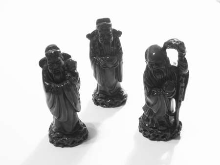 Three great chinese wise men statuettes photo